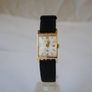 Longines rectangular 14k wrist watch