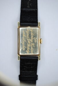Longines rectangular 14k wrist watch back
