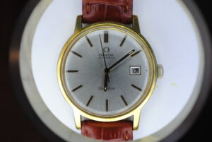 Omega genève automatic wristwatch brown starp