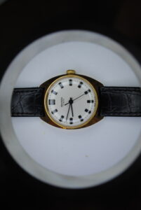 Sekonda manual wind gold plated wristwatch side