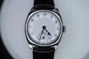 Zenith manual stainless steel wrist watch  close