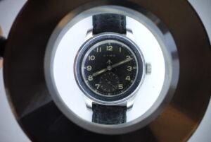 Cyma 'Dirty Dozen' British Military stainless steel wrist watch close