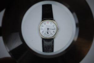 Roamer cushion cased manual wrist watch close front