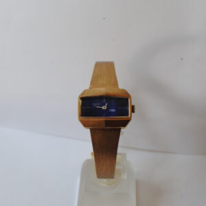 Delvina genève gold plated ladies manual wristwatch