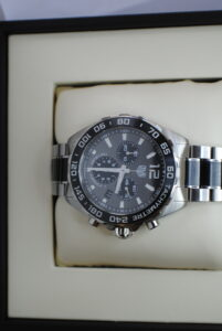 Tag Heuer formula 1 chronograph stainless steel and ceramic bracelet