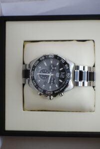 Tag Heuer formula 1 chronograph stainless steel and ceramic bracelet with box