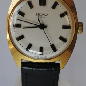 Sekonda manual wind gold plated wristwatch