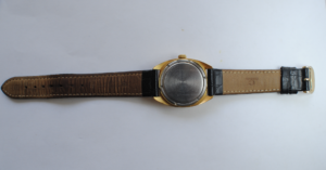 Sekonda manual wind gold plated wristwatch back