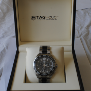 Tag Heuer formula 1 chronograph stainless steel and ceramic bracelet full