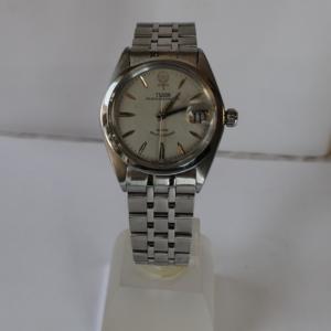 "Tudor Prince Oysterdate ""Big Rose"" Rotor self-winding stainless steel wristwatch"