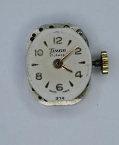 Timor Ladies 9ct gold wristwatch face