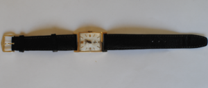 Longines rectangular 14k wrist watch full